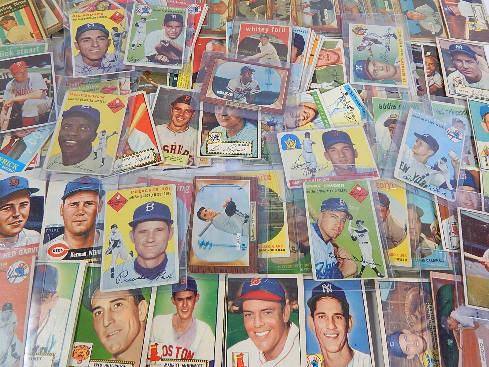 1950s Bowman and Topps Baseball Card Collection - 128 Card Count