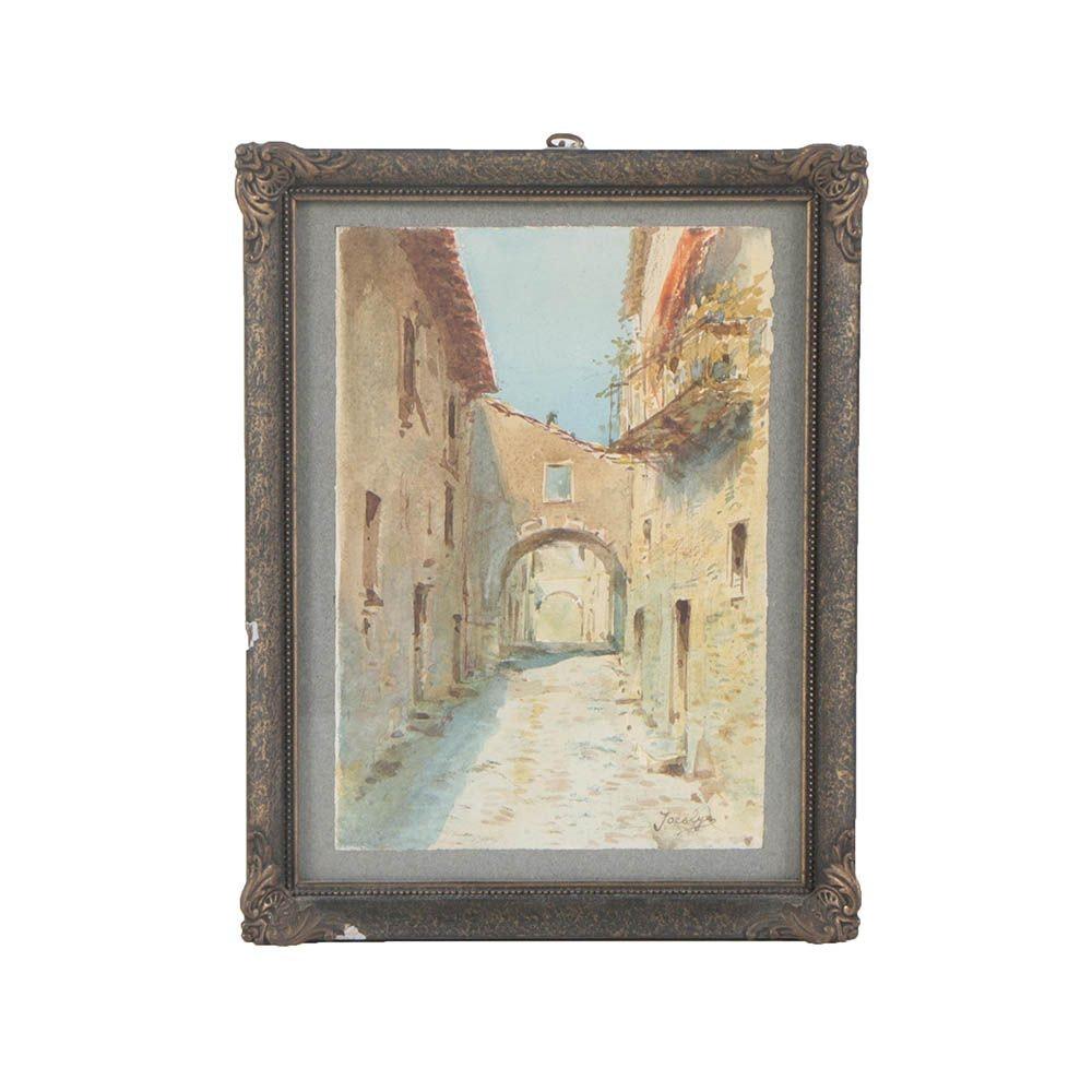 Vintage Jocalyn Watercolor Painting