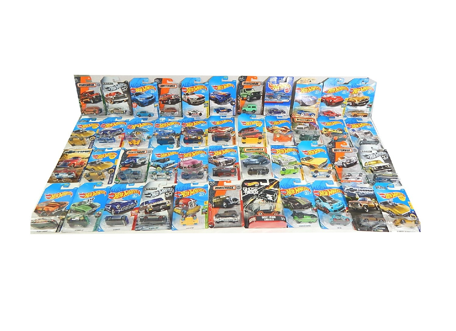 Collection of Hot Wheel and Matchbox Cars with Some Treasure Hunts