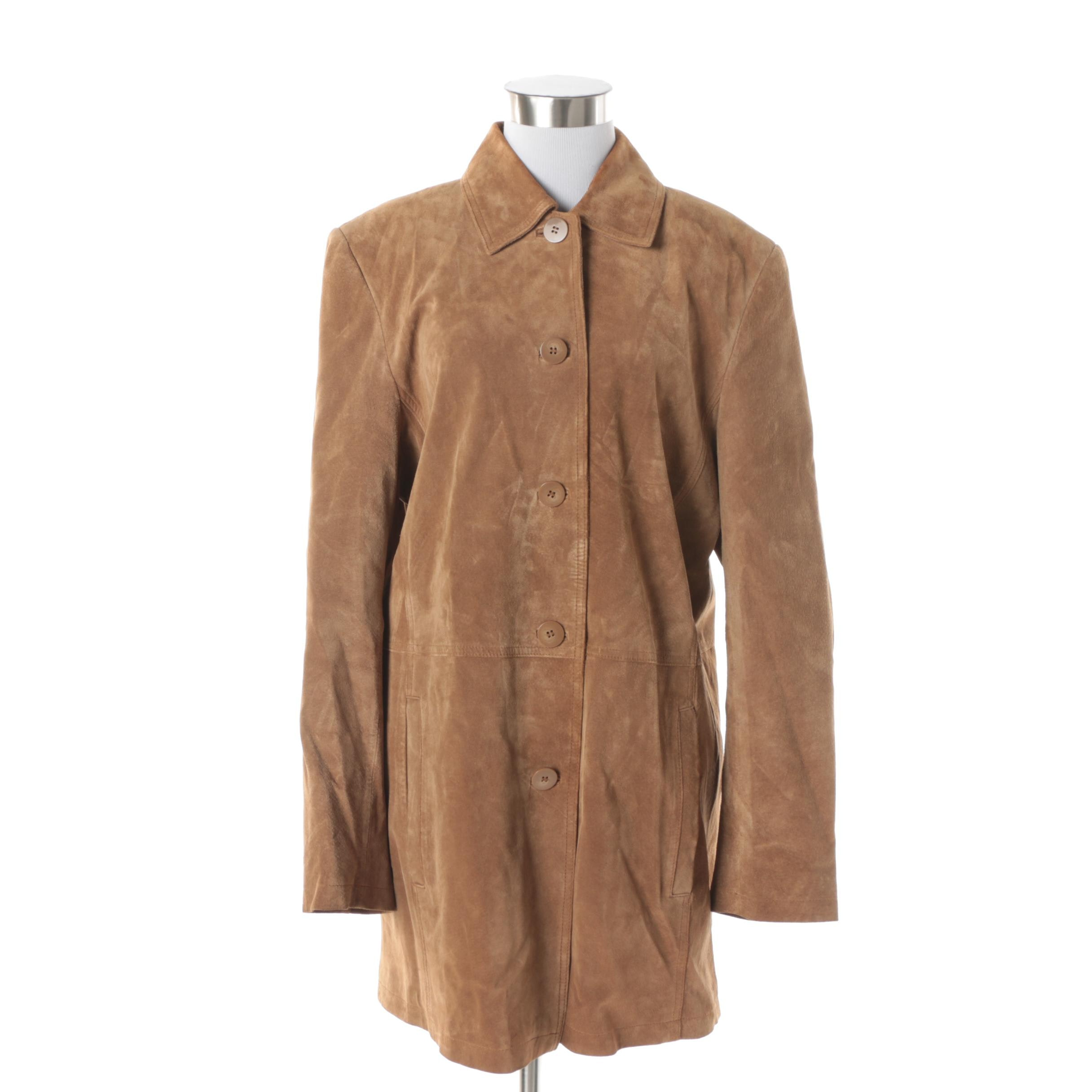 Women's Bernardo Collection Brown Suede Jacket