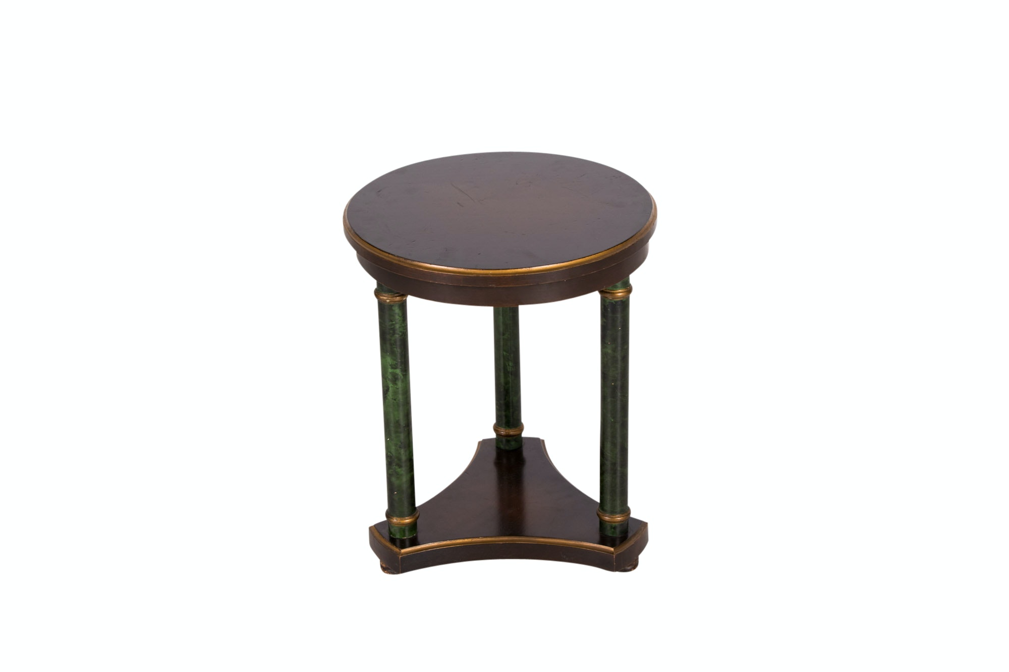 Neoclassical Style Parcel-Gilt Side Table with Marbleized Columns, 20th Century