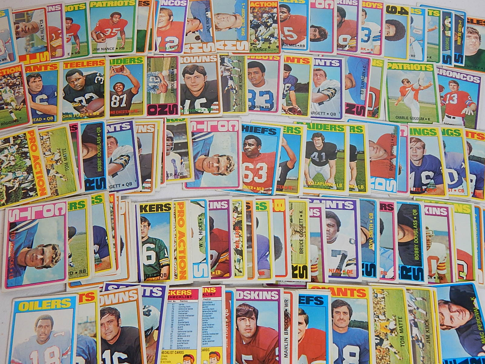 1972 Topps Football Card Collection - Over 100 Card Count