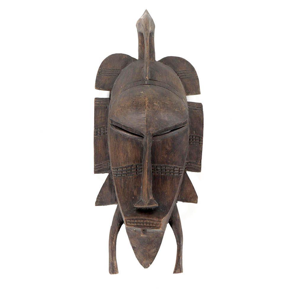Senufo Hand-Carved Wood Kpelie Mask