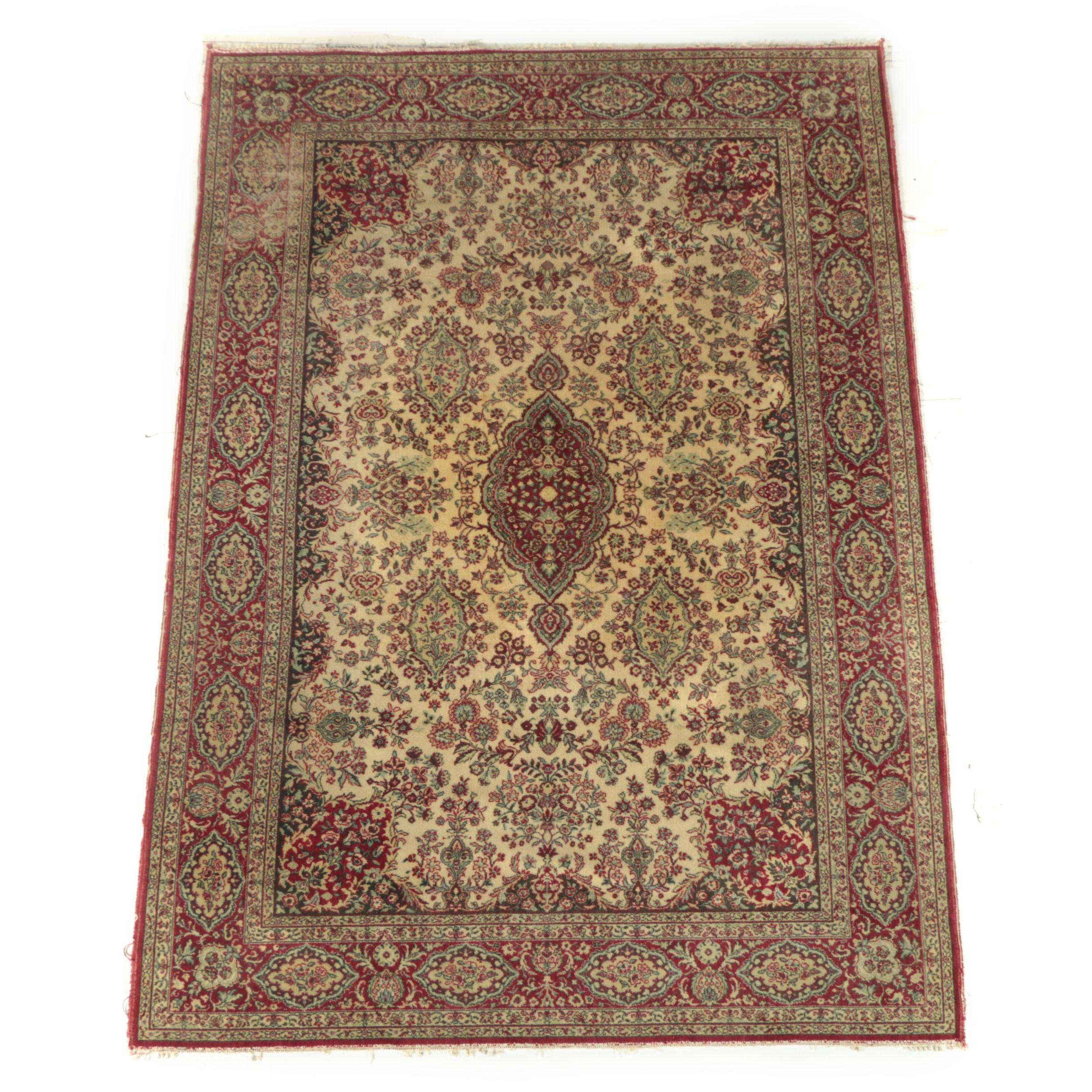 Power-Loomed Persian Style Wool Area Rug