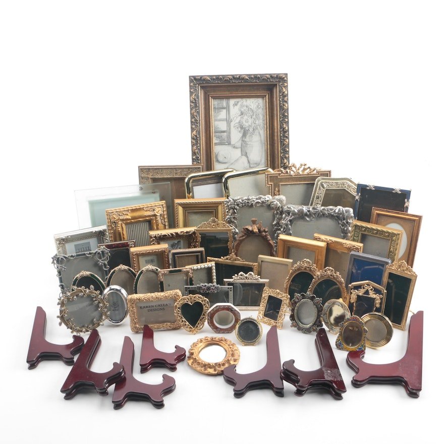 c7b567f91e3 Table and Wall Picture Frames including Gold Plated and Sterling Pewter ...