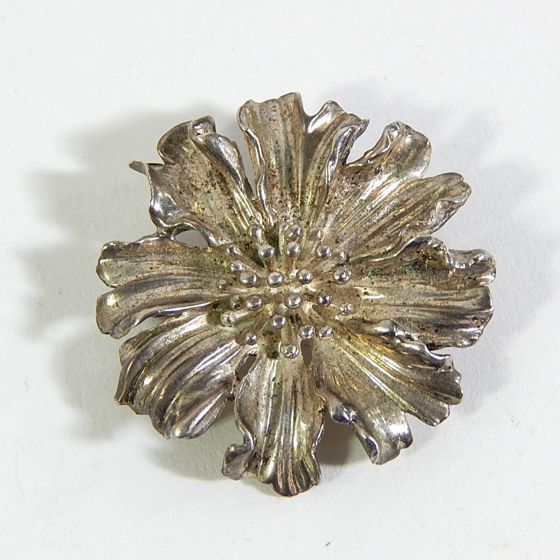 Vintage Sterling Silver Tiffany and Co. Marigold Brooch