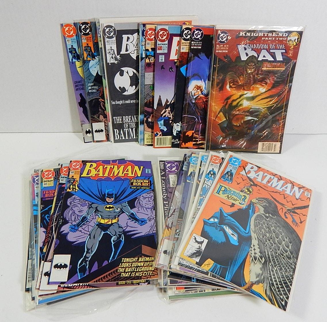 DC Comics with Batman, Knightfall Batman, More - 43 Lot Count