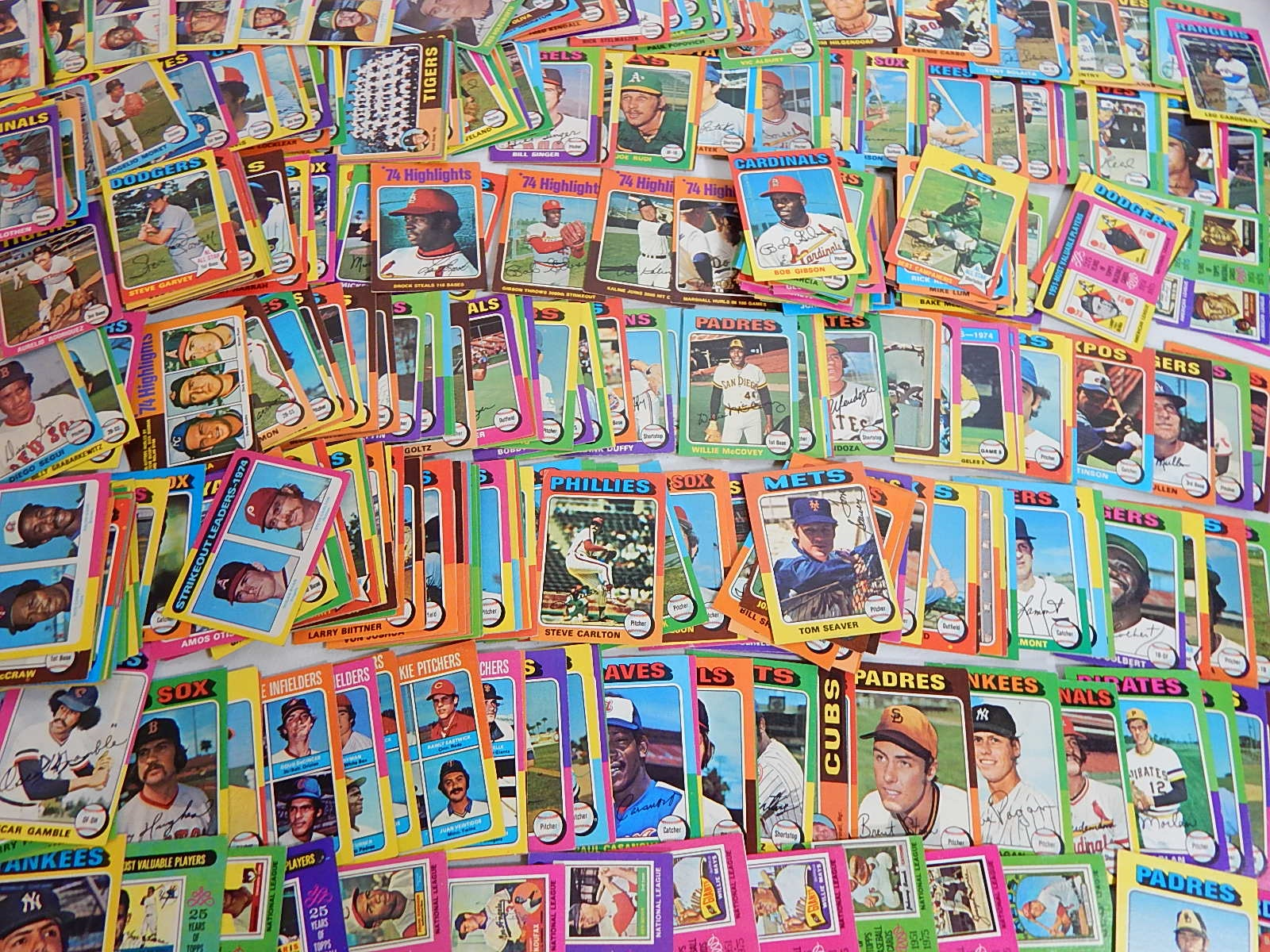 1975 Topps Baseball Card Collection - Over 400 Card Count