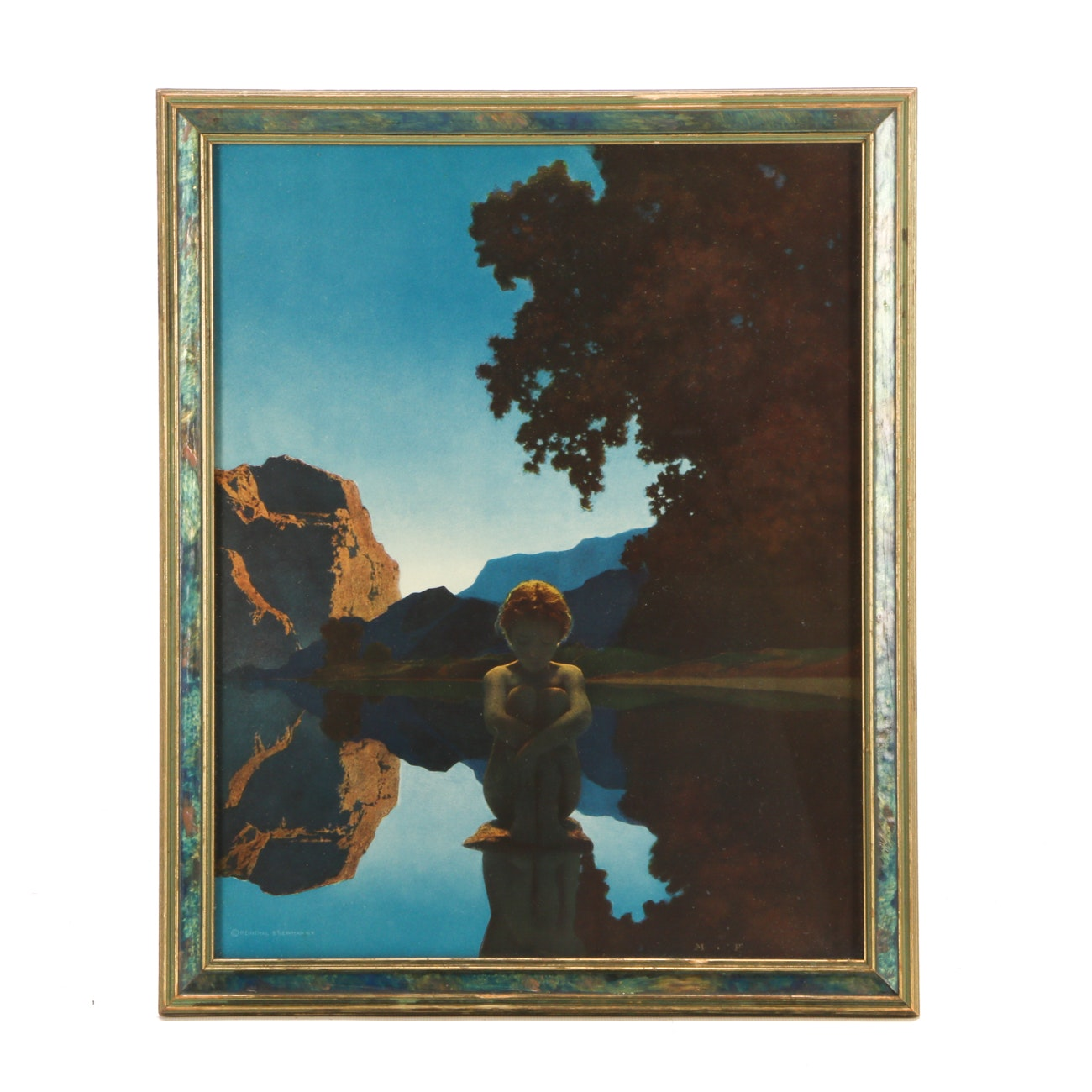 "Offset Lithograph after Maxfield Parrish ""Evening"""