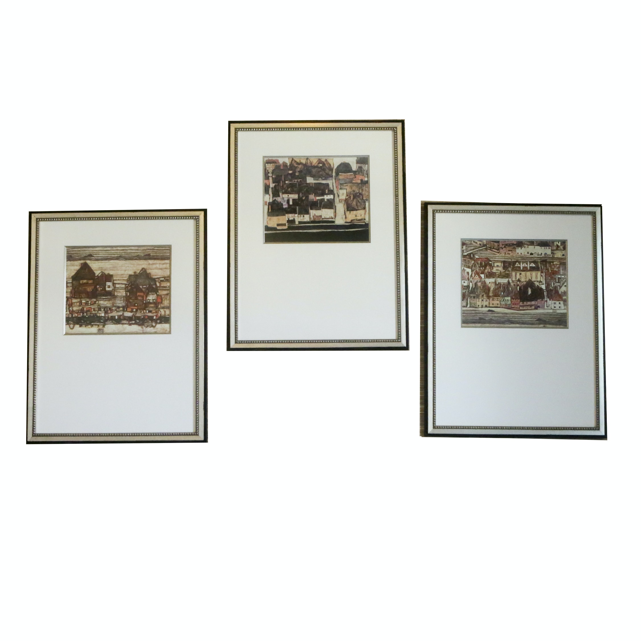 Reproduction Prints of Cityscapes in Frames