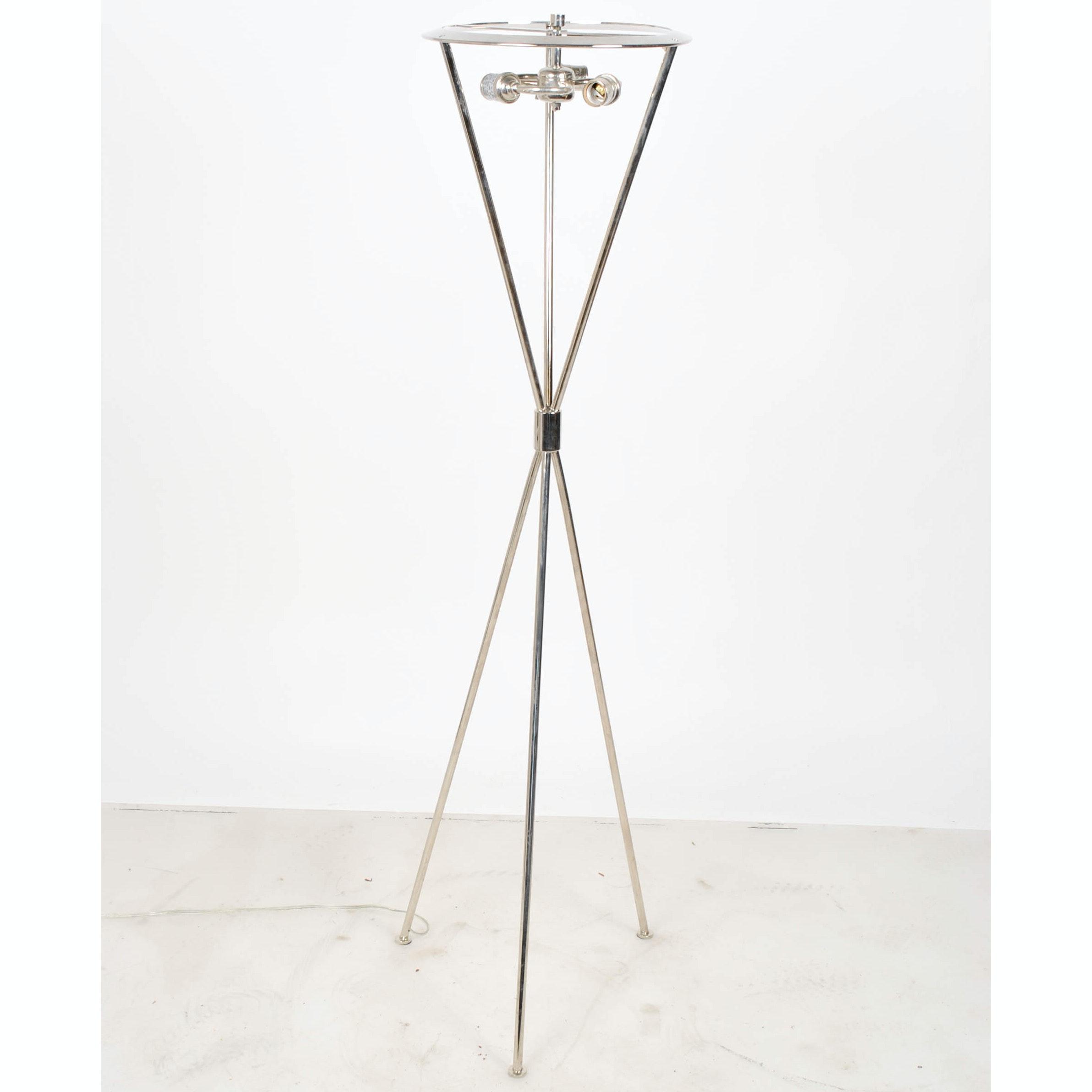 Contemporary Tripod Three-Light Floor Lamp