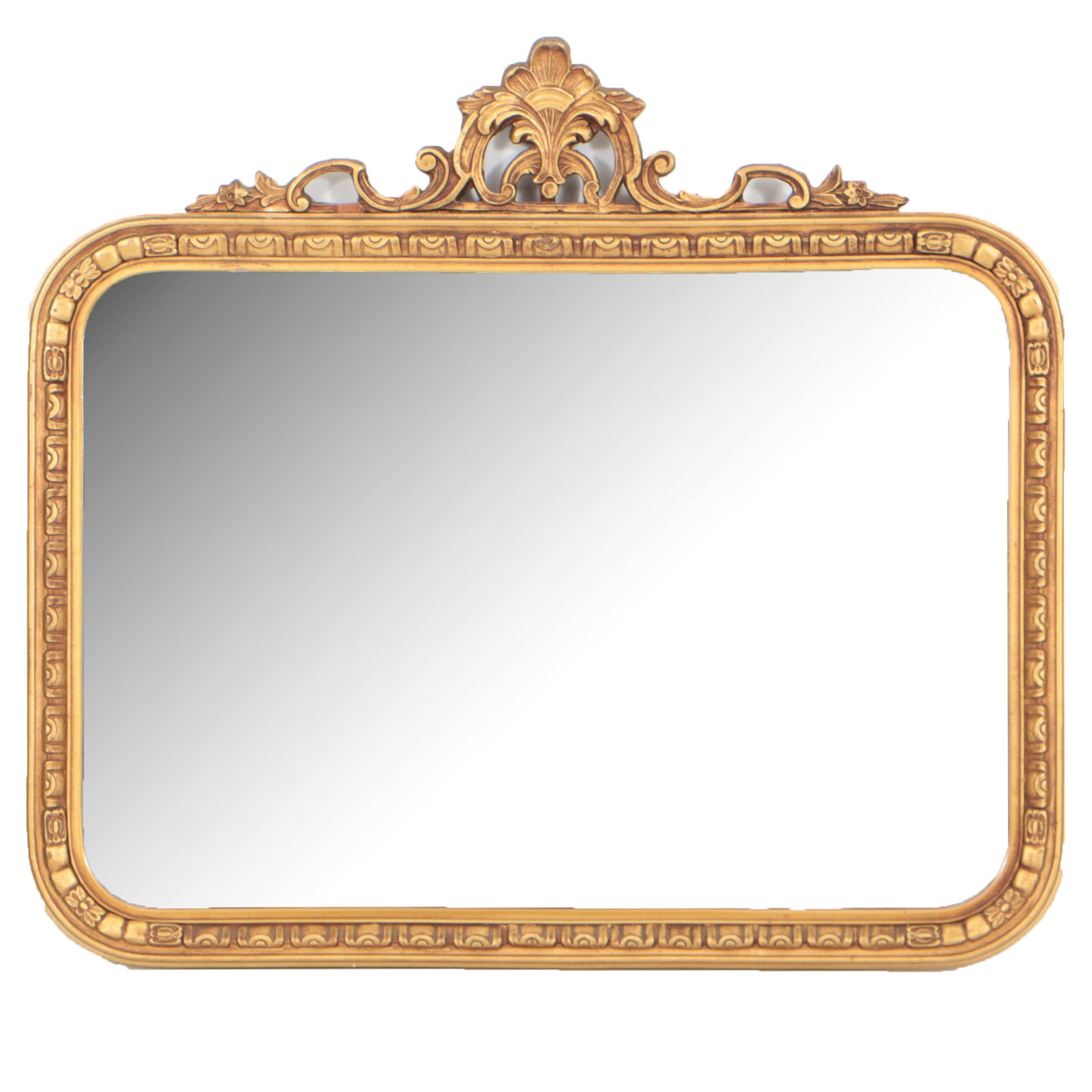 Rococo Style Giltwood Mirror by Borin Art Products of Chicago, 20th Century