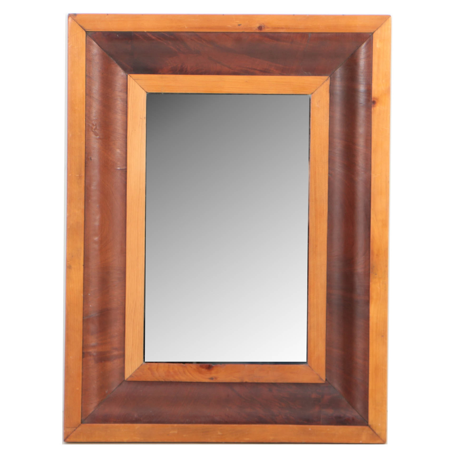 American Mahogany and Pine Picture Frame Mirror, Mid-19th Century and later