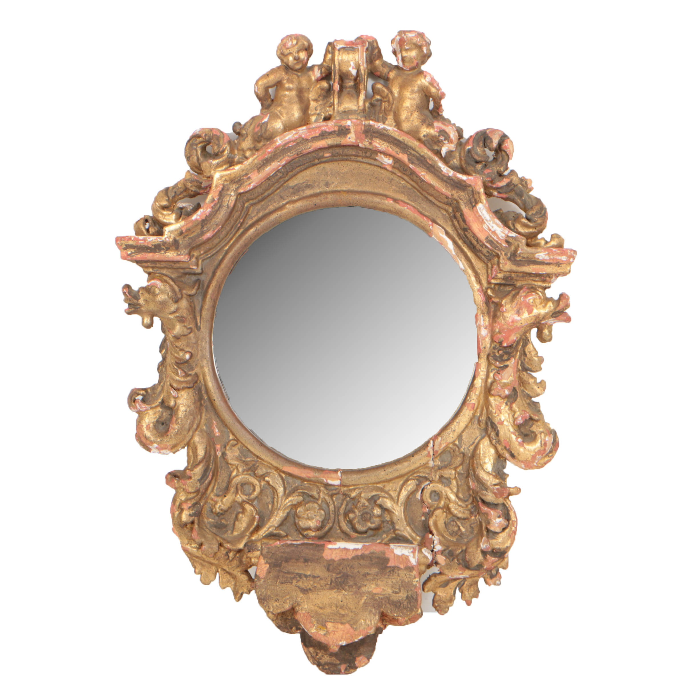 Baroque Style Giltwood Mirror by Span Craft Studios, 20th Century