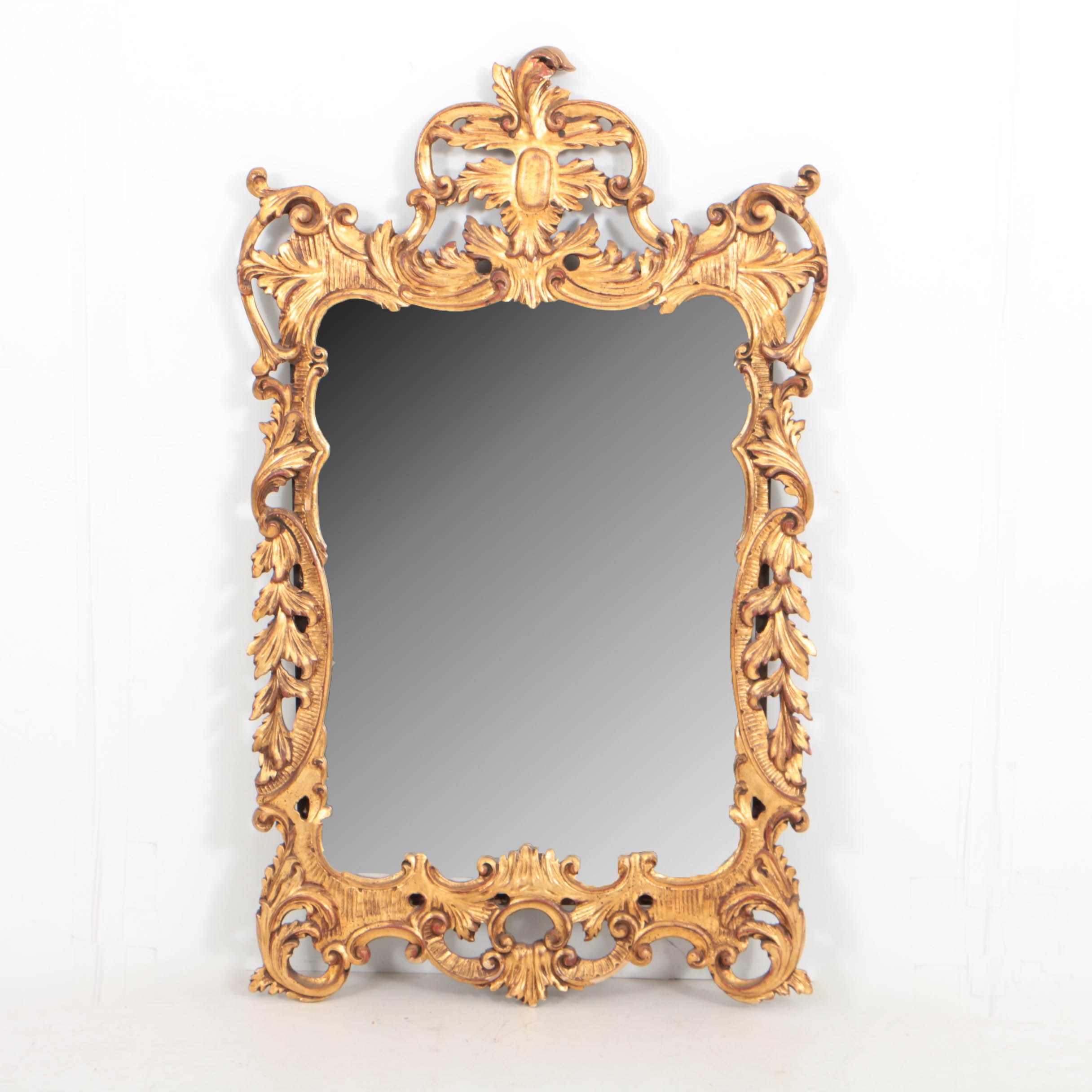 Italian Rococo Style Carved Giltwood Mirror, 20th Century