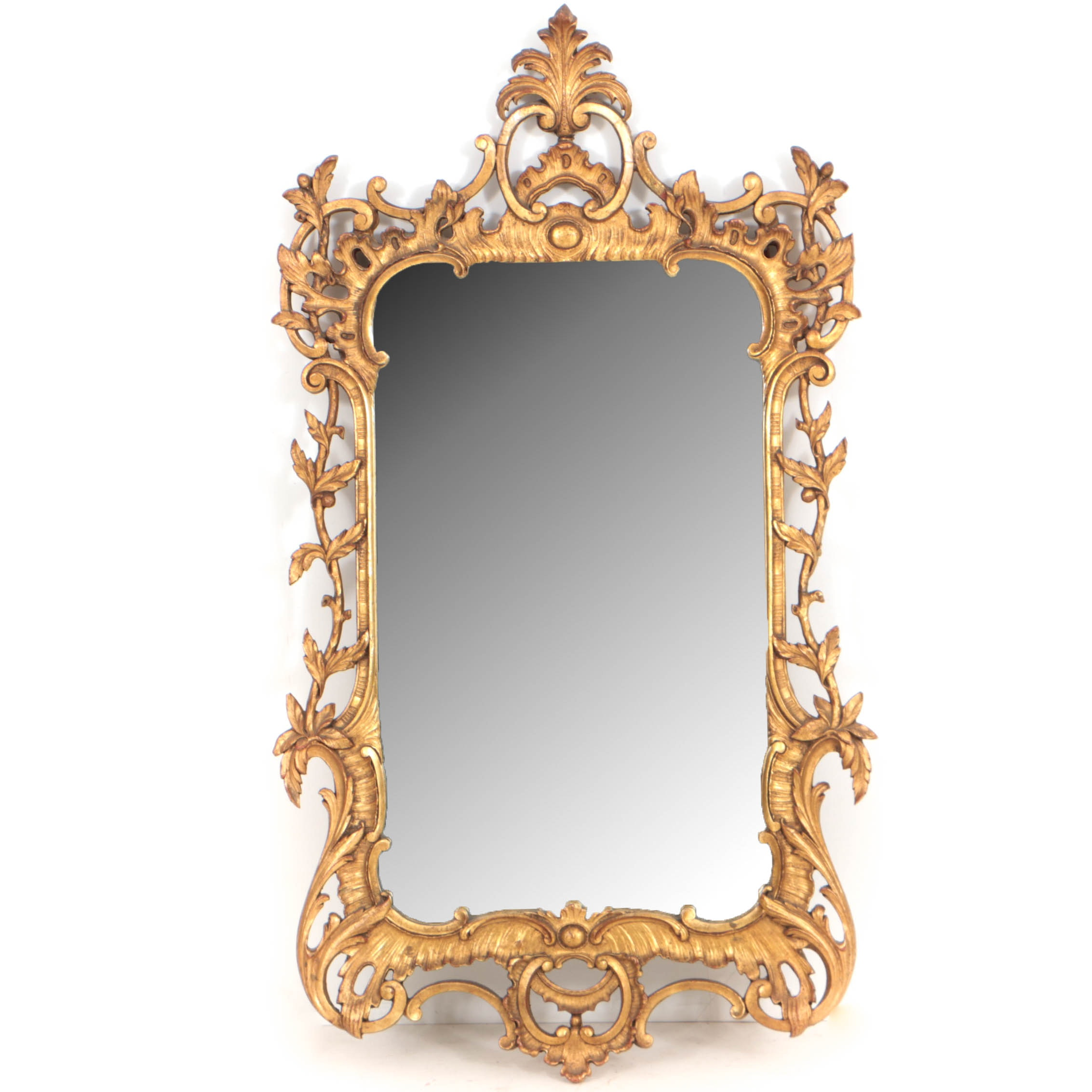 Rococo Style Carved Giltwood Mirror, 20th Century