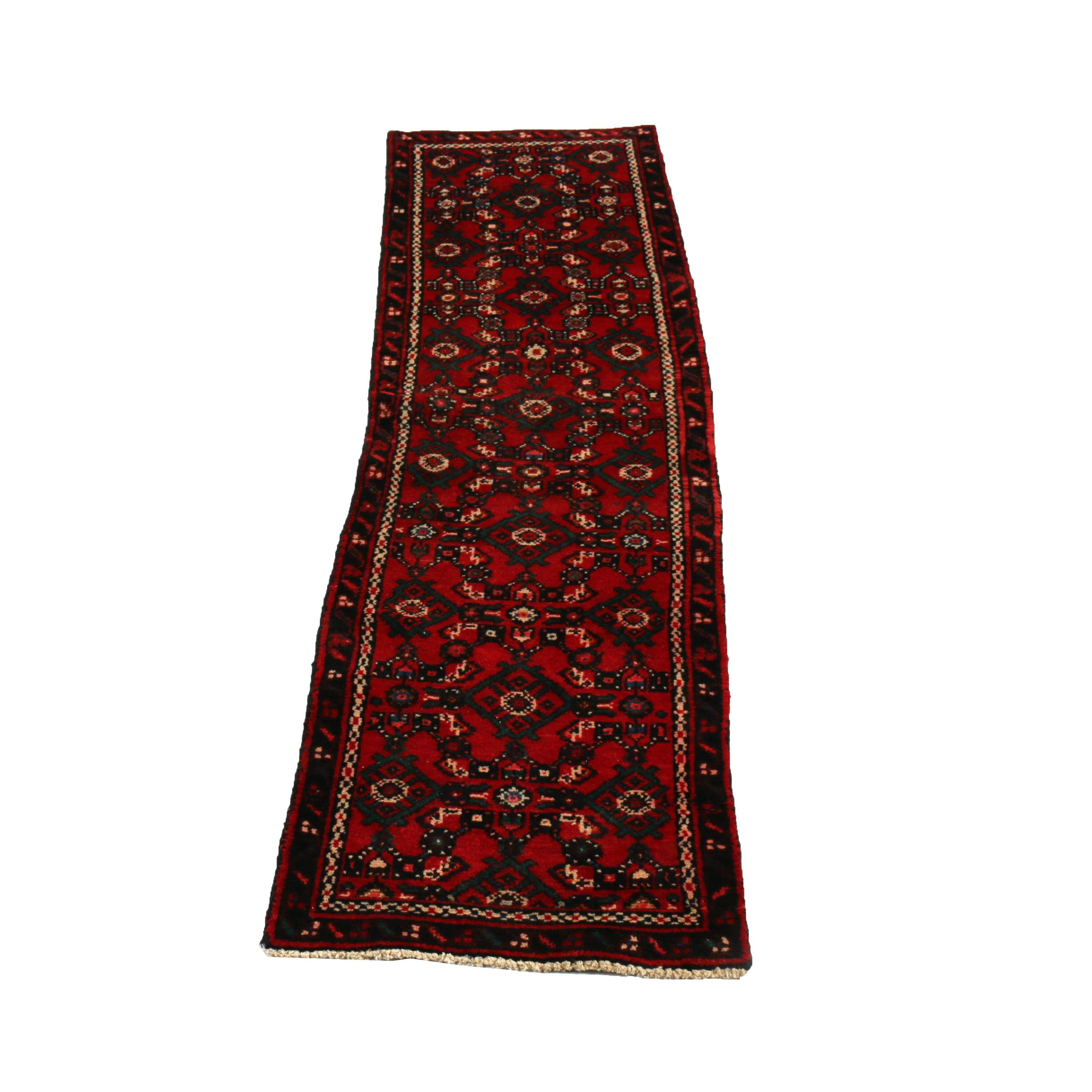Hand-Knotted Persian Lilihan Wool Carpet Runner