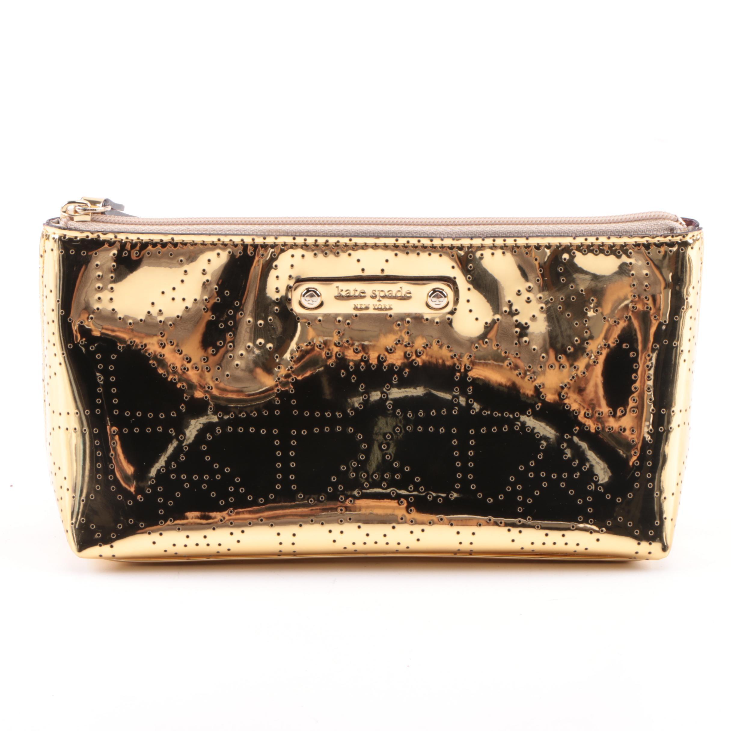 Kate Spade New York Metallic Gold Pouch