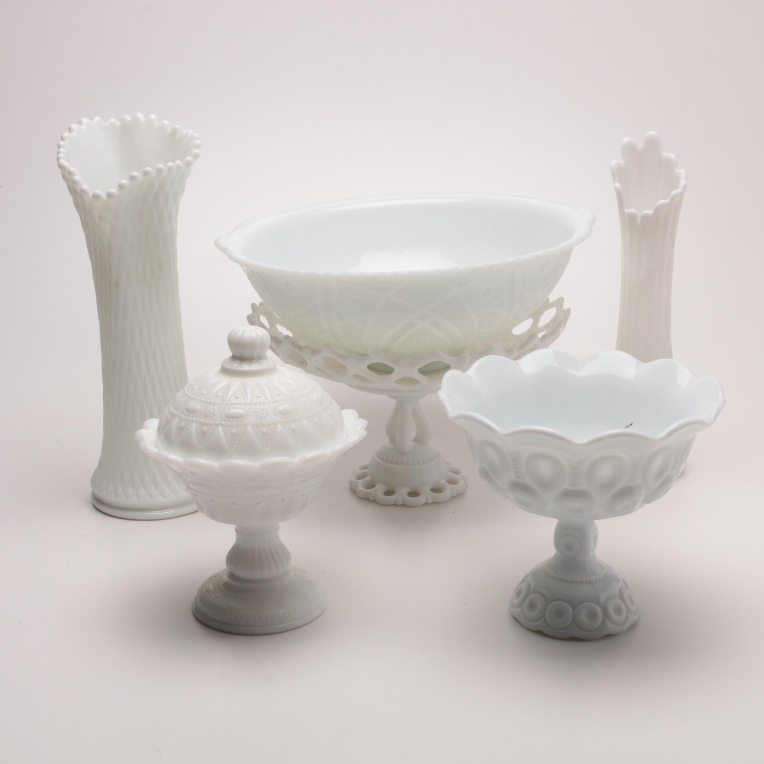 Milk Glass Including Westmoreland