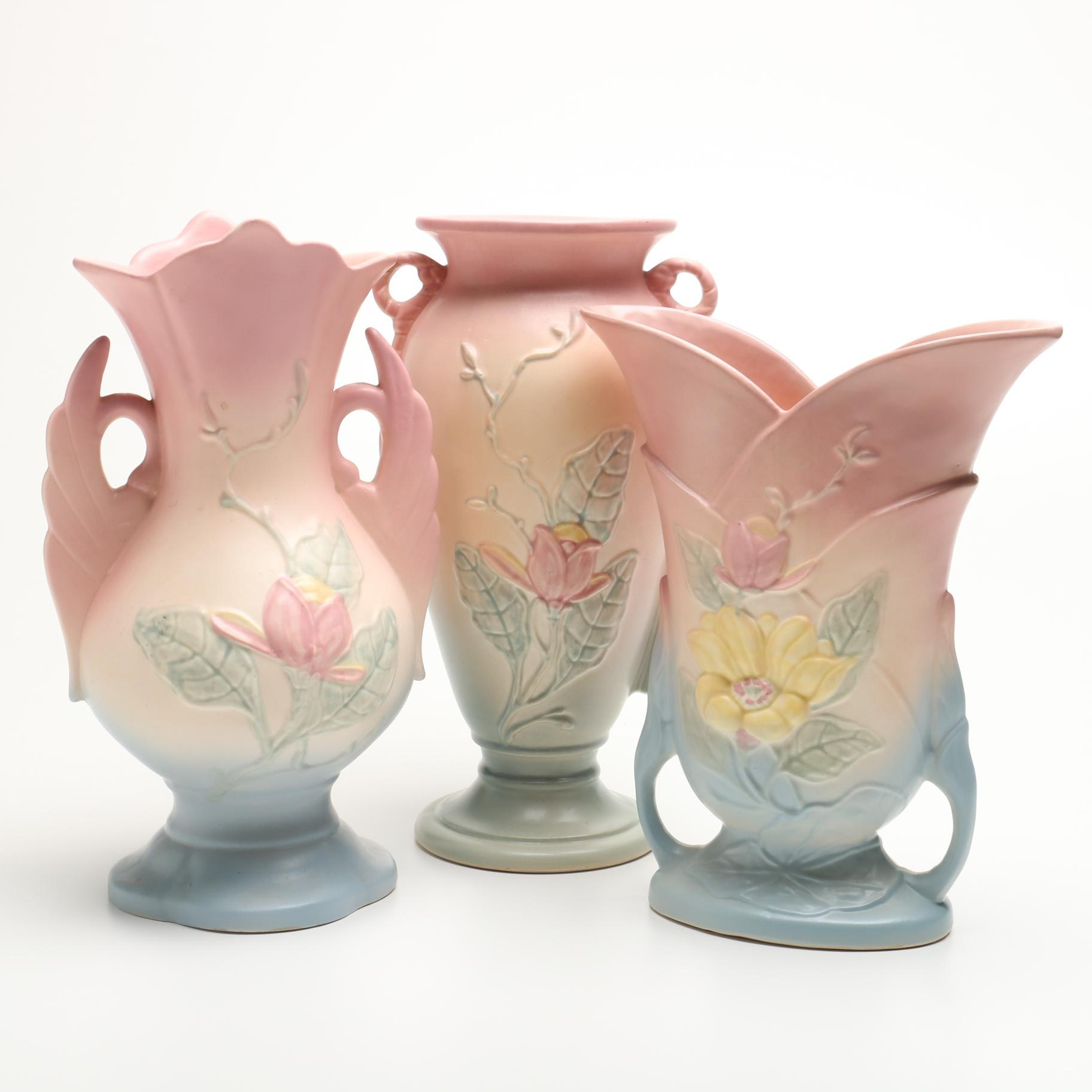 "Large Hull Pottery ""Magnolia"" Vases"