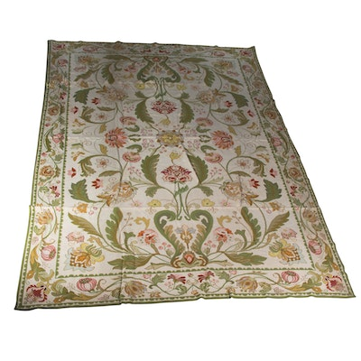 Vintage Directoire Style Needlepoint Area Rug
