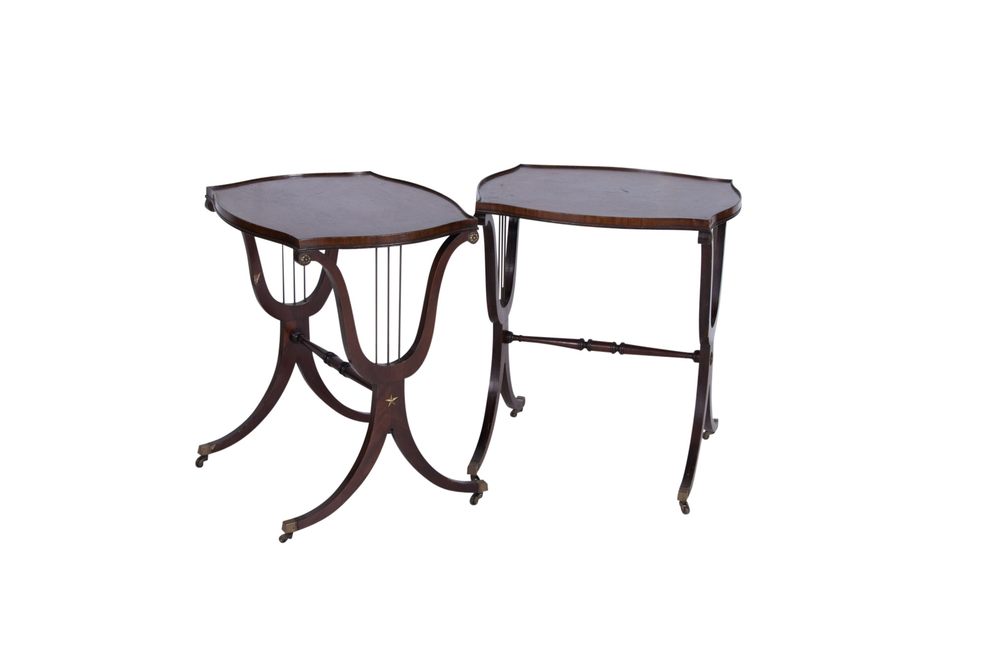 Classical Style Brass-Mounted Mahogany Side Tables, 20th Century