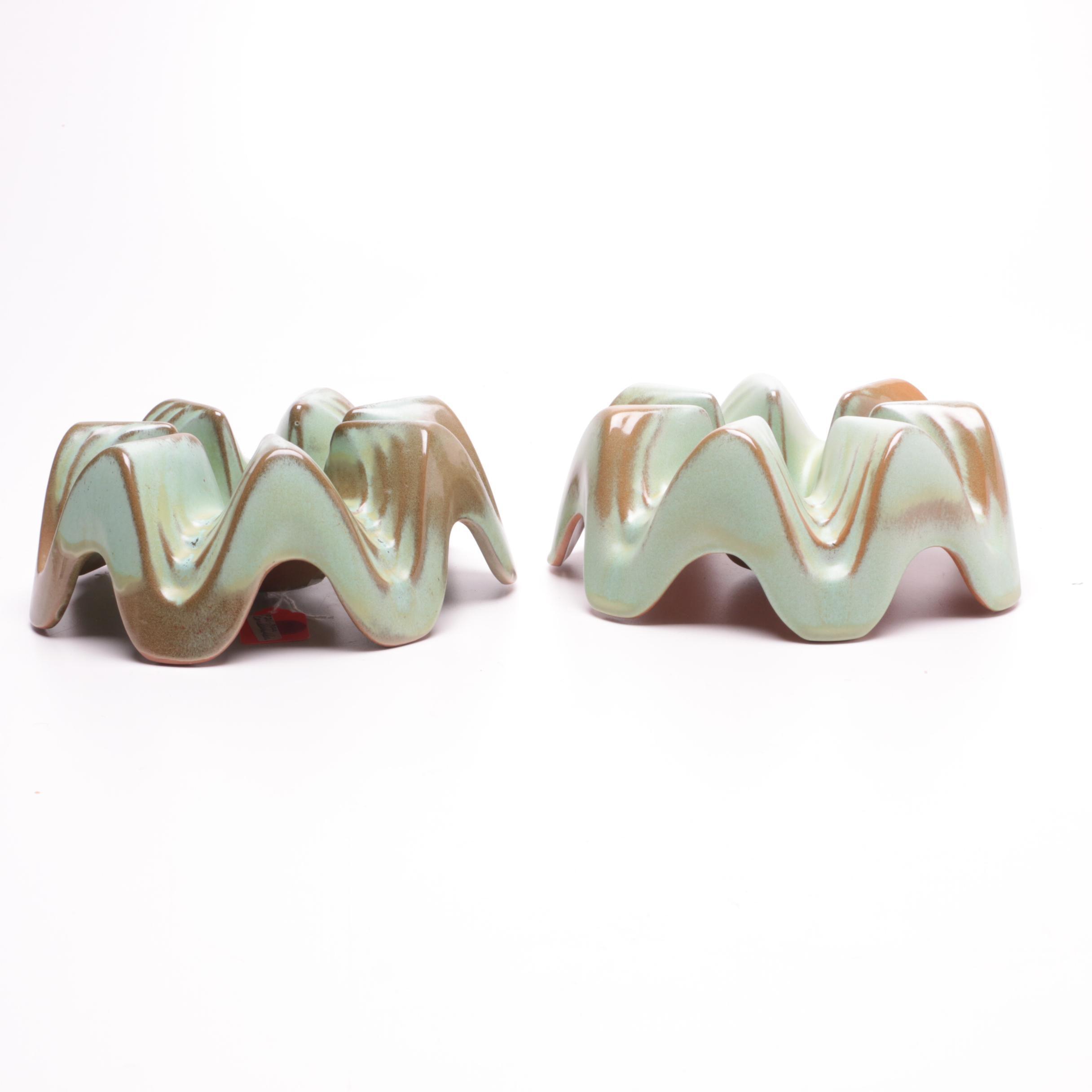 Frankoma Pottery Casserole Warmers