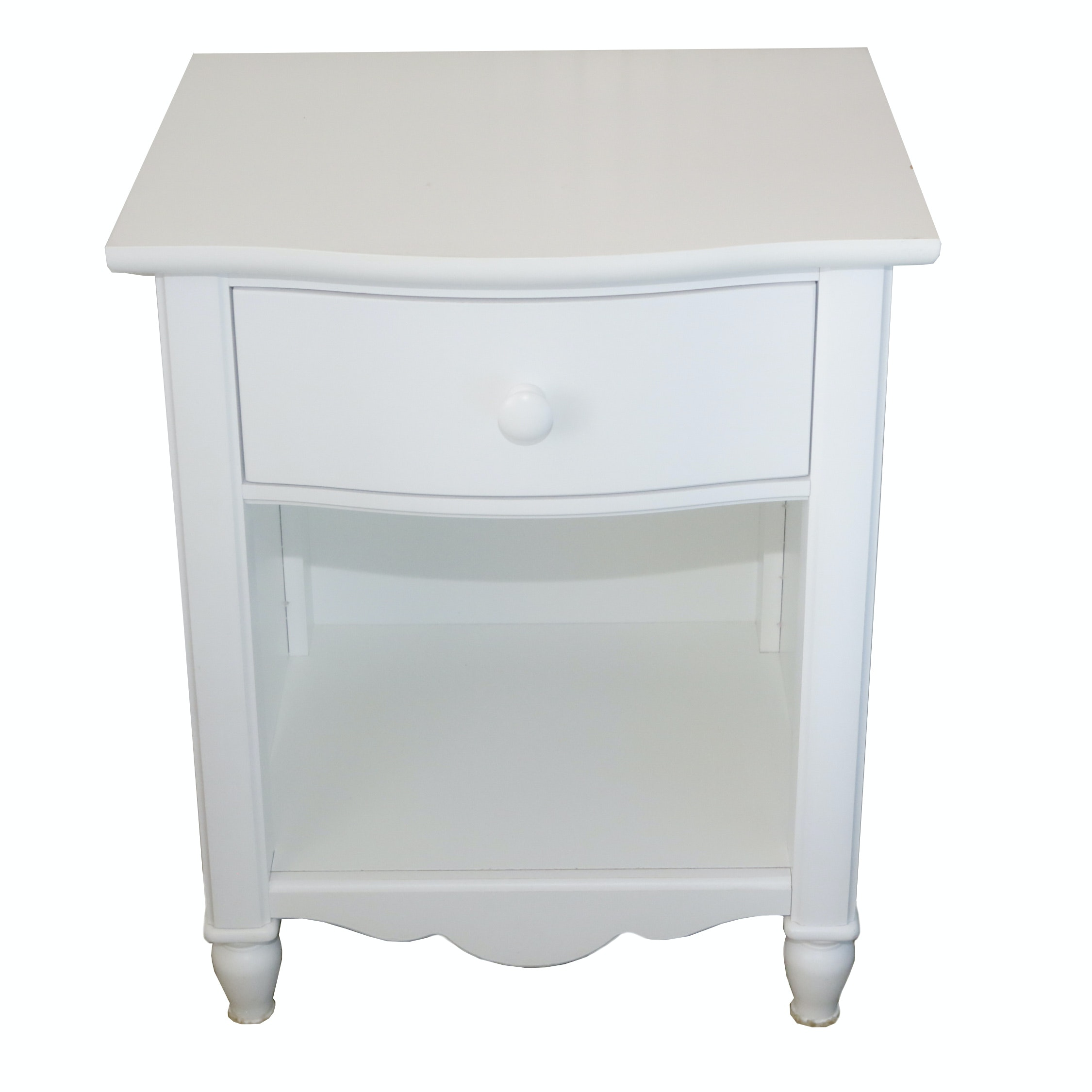 Contemporary White Painted Nightstand