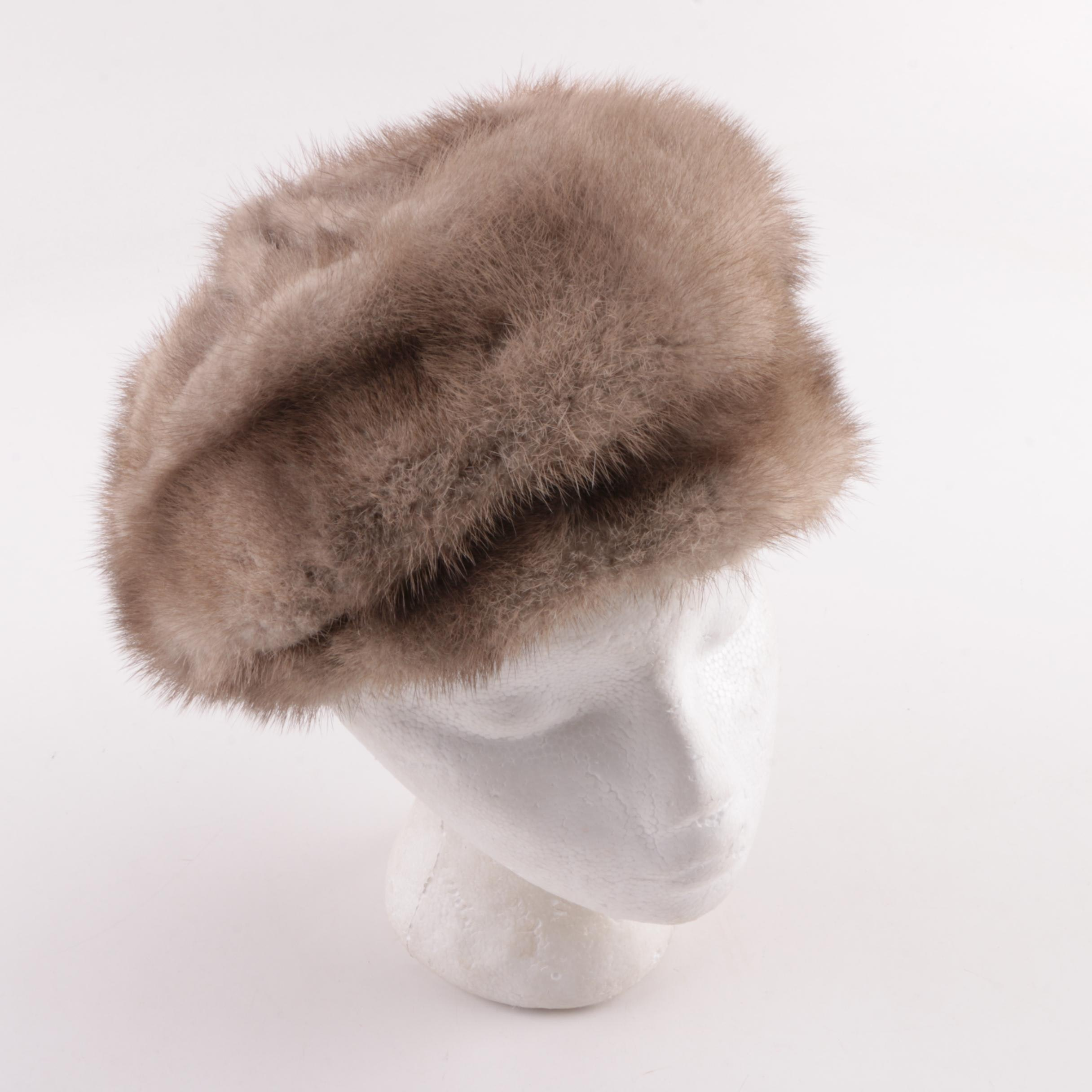 Women's Vintage Styled by Sue Mink Fur Hat