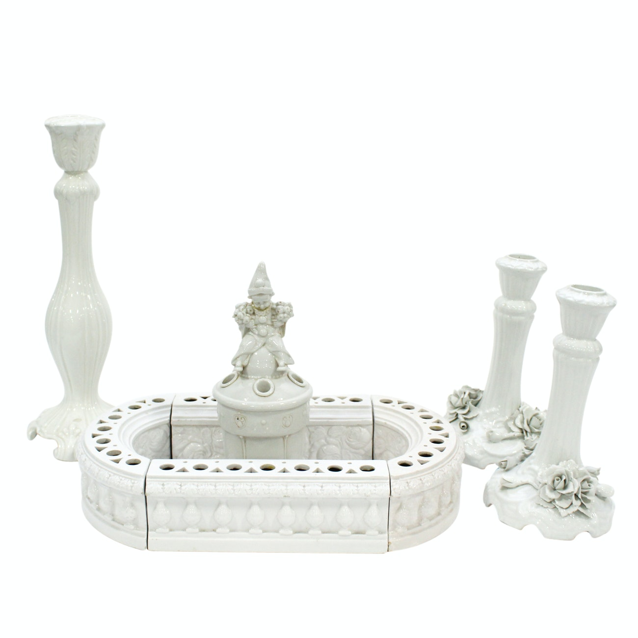 Collection of Italian White Porcelain, 20th Century