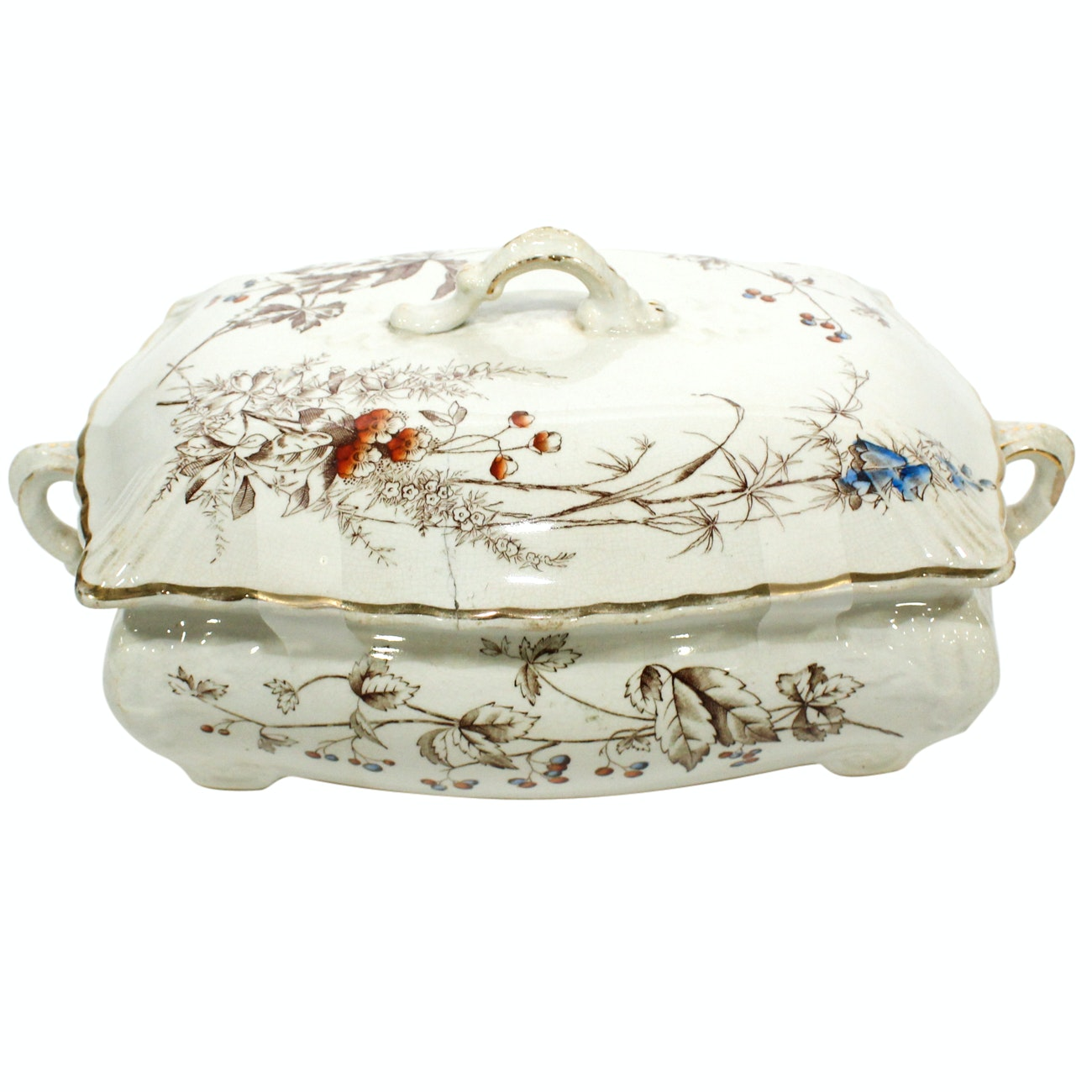 """Fenton Porcelain """"Minerva"""" Vegetable Tureen and Cover, Early 20th Century"""