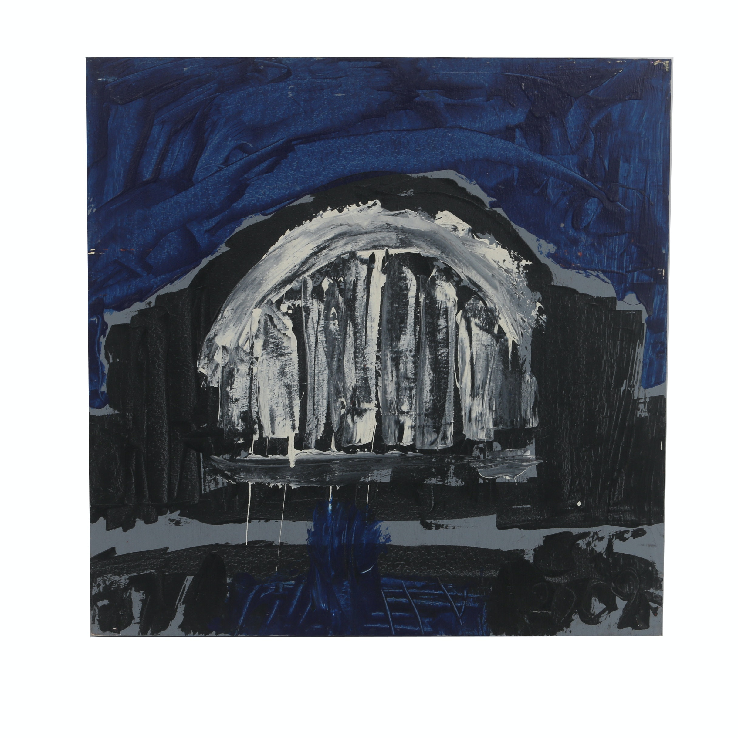 """Courttney Cooper 2009 Acrylic Painting on Wood """"Union Terminal"""""""