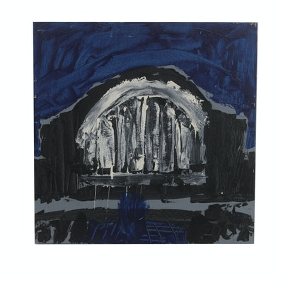 "Courttney Cooper 2009 Acrylic Painting on Wood ""Union Terminal"""