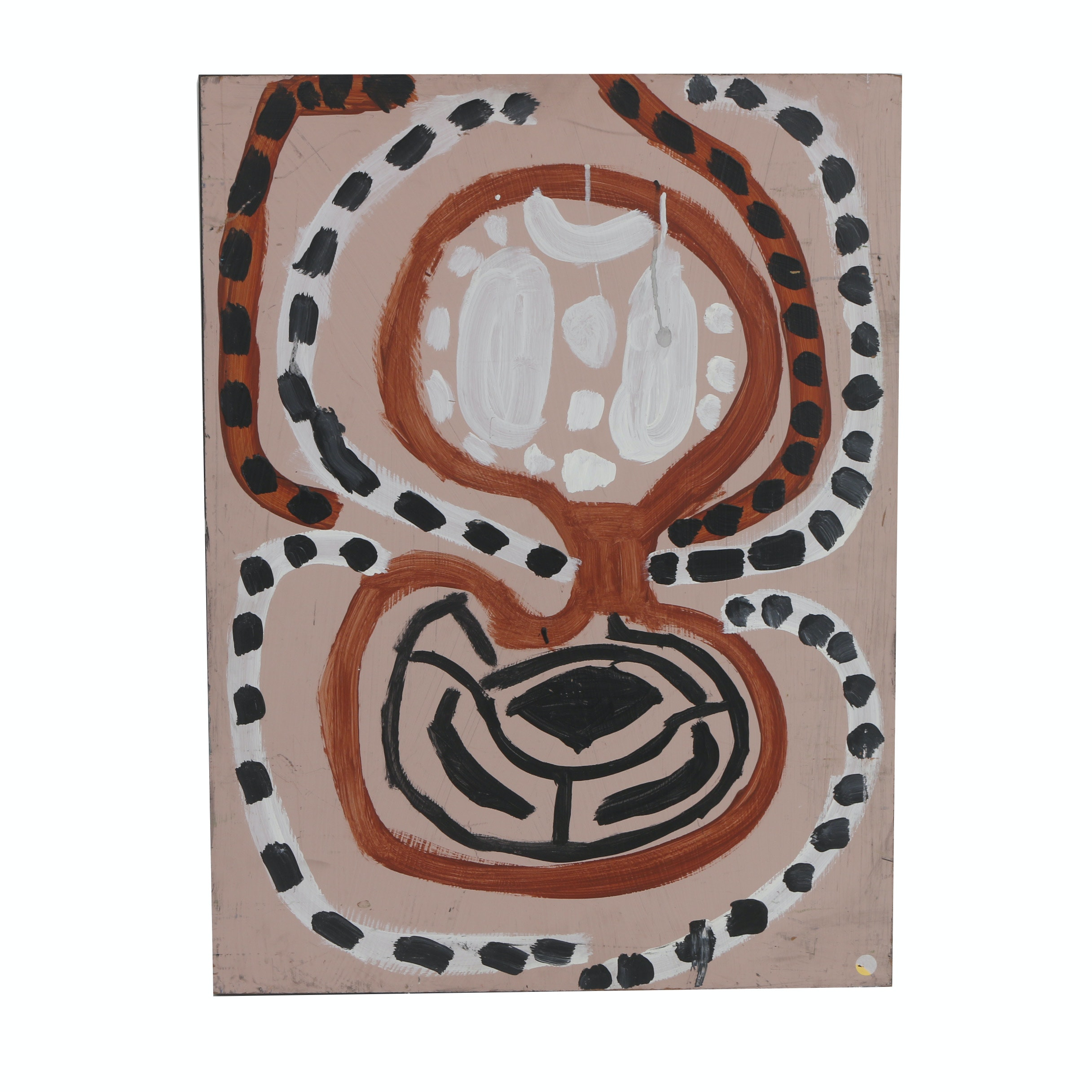 "Kevin White 2014 Acrylic Painting on Wood ""Untitled"""