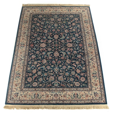 "Karastan Power Loomed ""Indigo Tabriz"" Wool Area Rug"