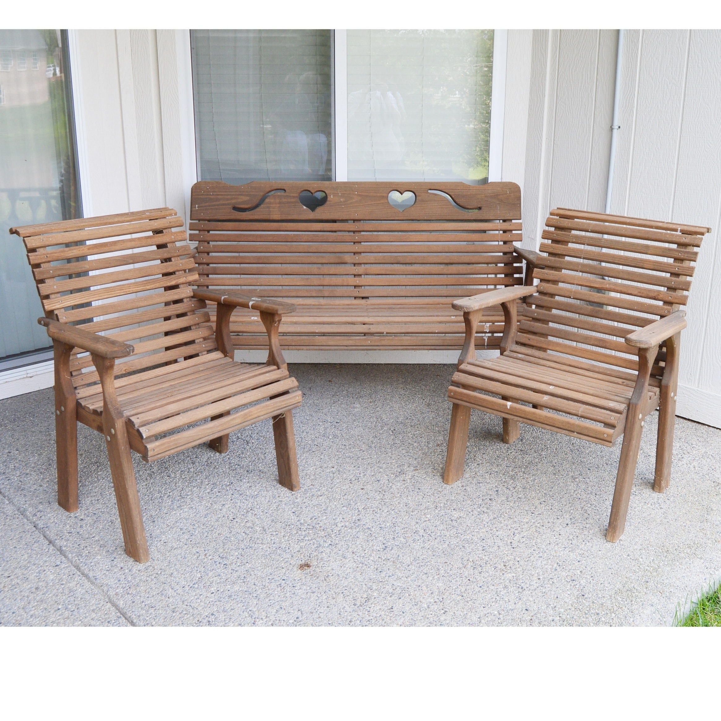 Pine Bench and Chairs