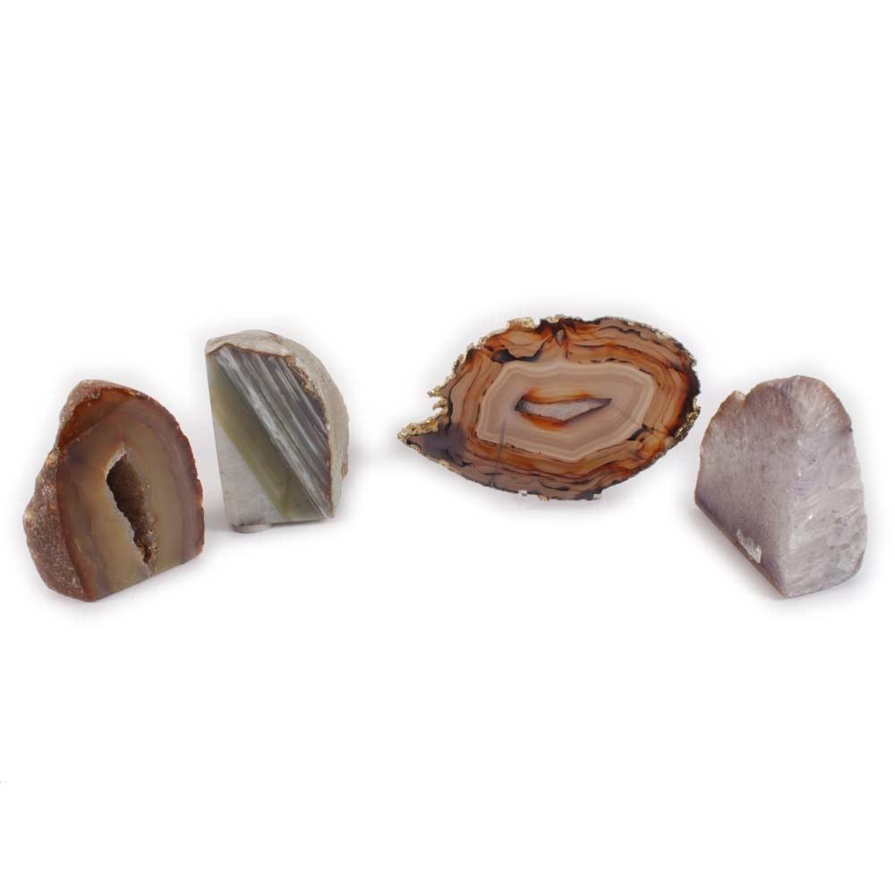 Quartz Specimens and Agate Slice