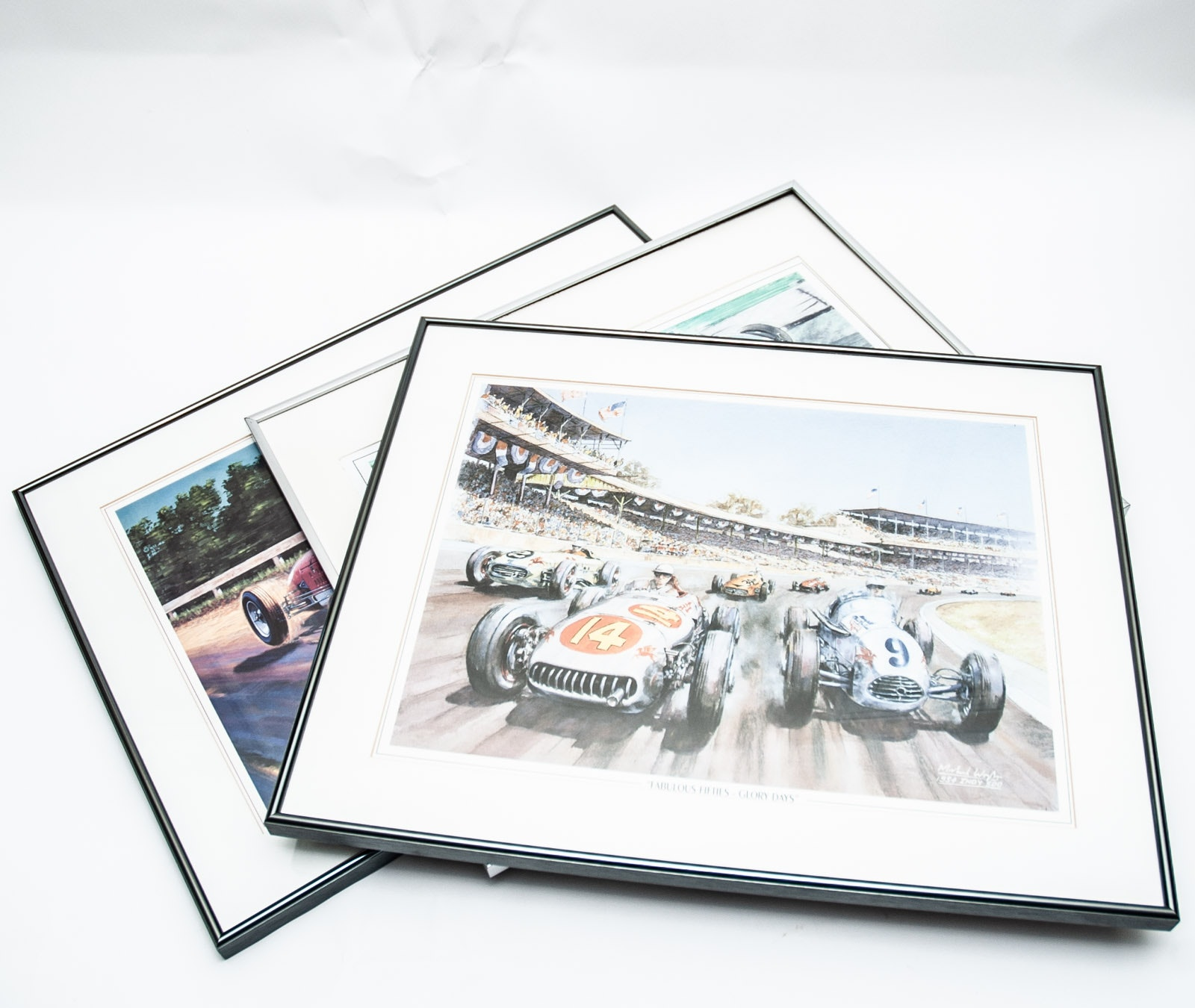 Indy 500 Offset Lithographs after Michael Wright and Joe Henning Paintings