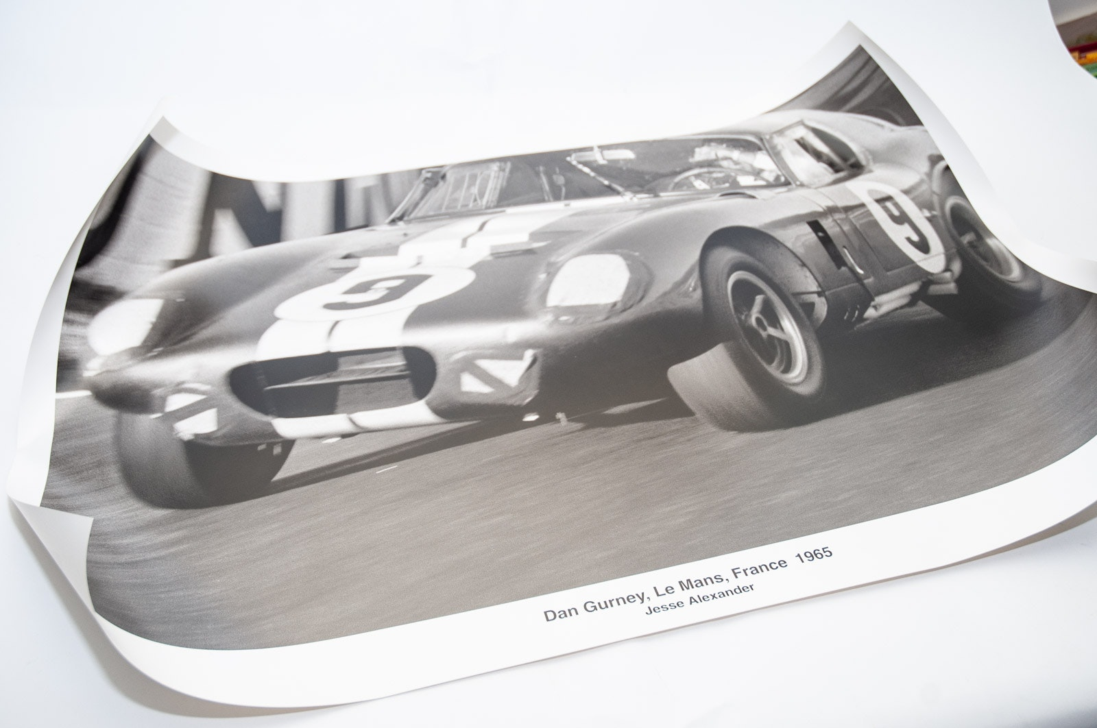 Four Jesse Alexander Black and White European Racing Offset Lithographs