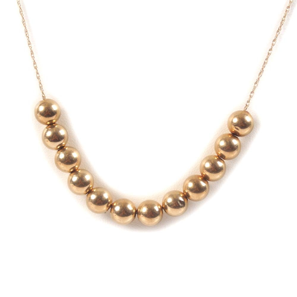 14K Yellow Gold Add-a-Bead Necklace