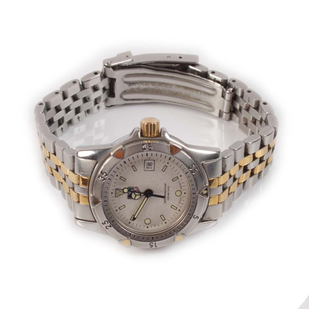 TAG Heuer Professional Stainless Steel and Gold Tone Wristwatch