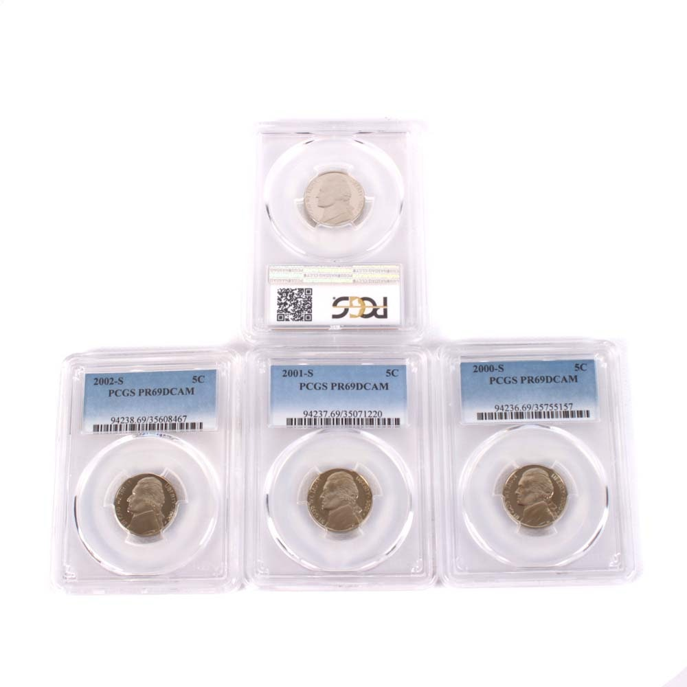 PCGS Graded Jefferson Proof Nickels