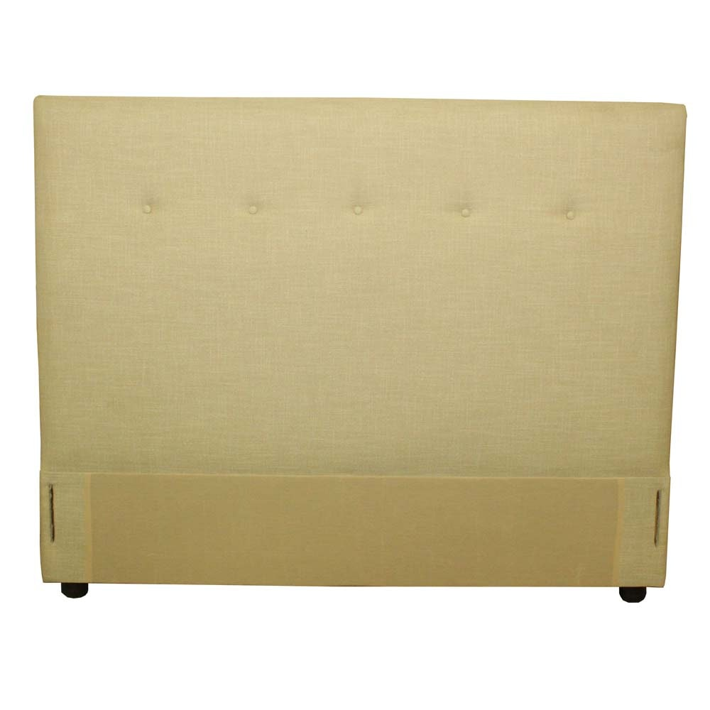 Upholstered Button Tufted Queen Size Headboard