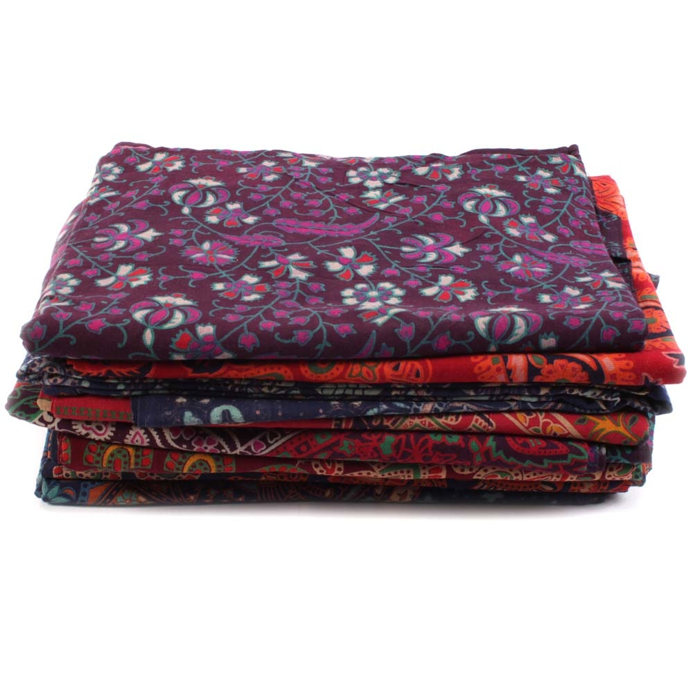 Printed and Embroidered Cotton Textiles with Indian Patterns