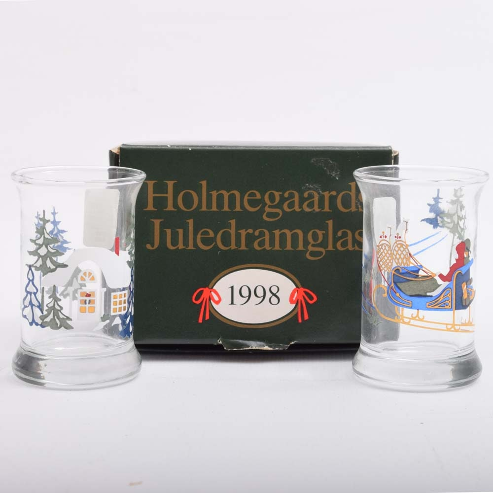 Holmegaards 1998 Christmas Dram Glasses