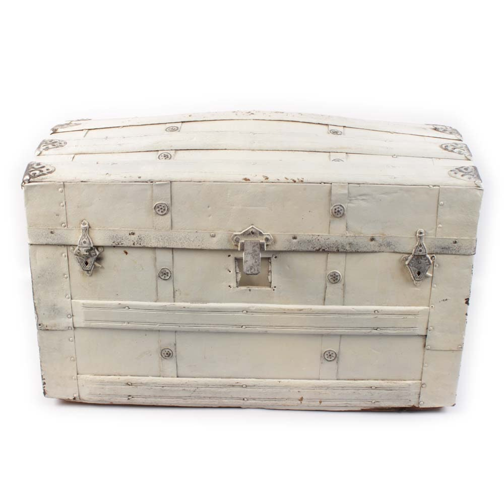 Vintage Painted Dome Top Trunk