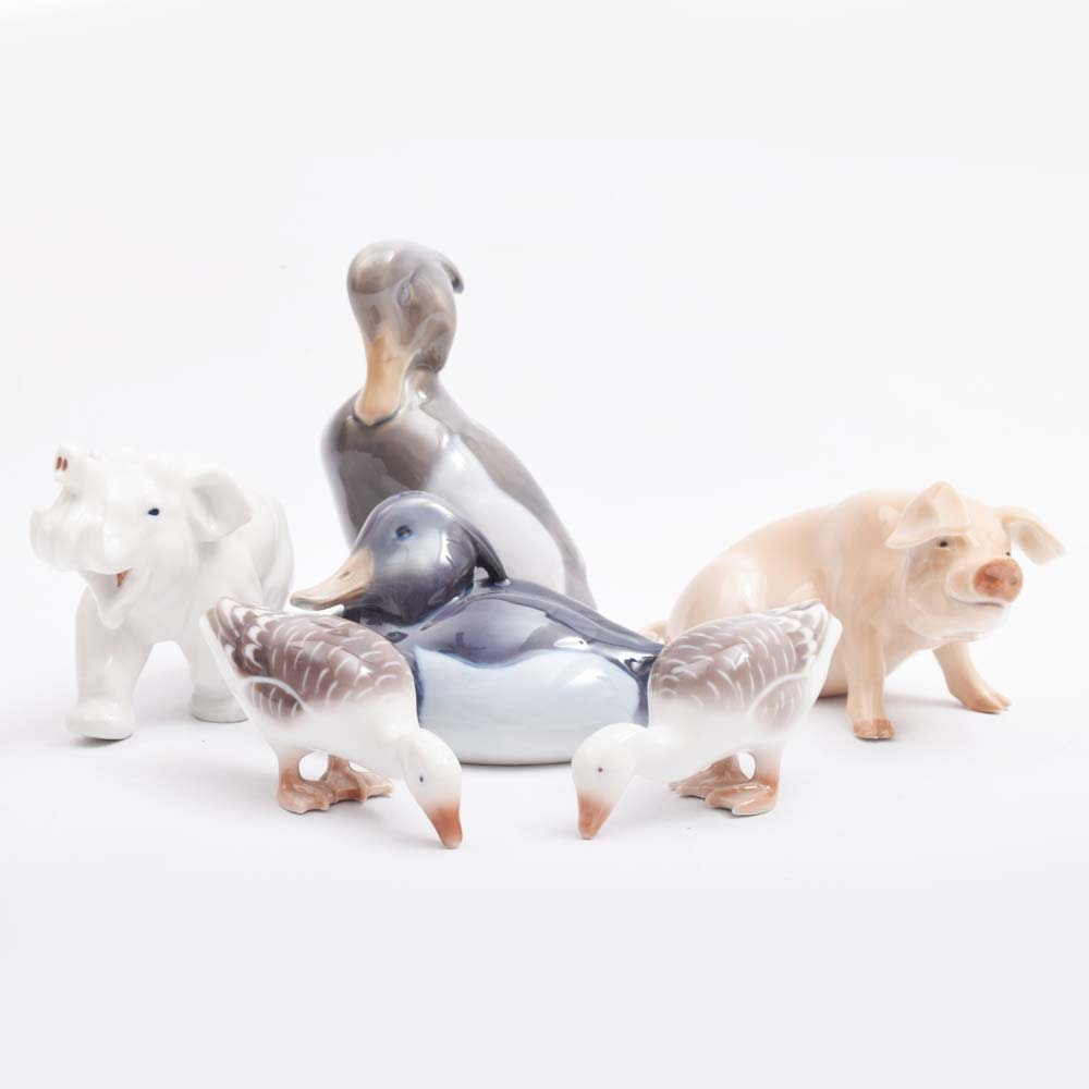 Collection of Royal Copenhagen Porcelain Figurines