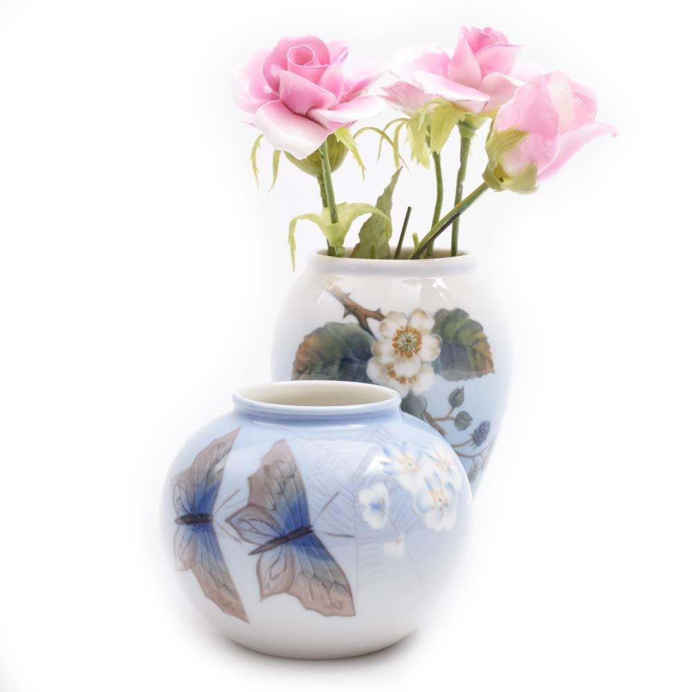 Pair of Royal Copenhagen Porcelain Vases