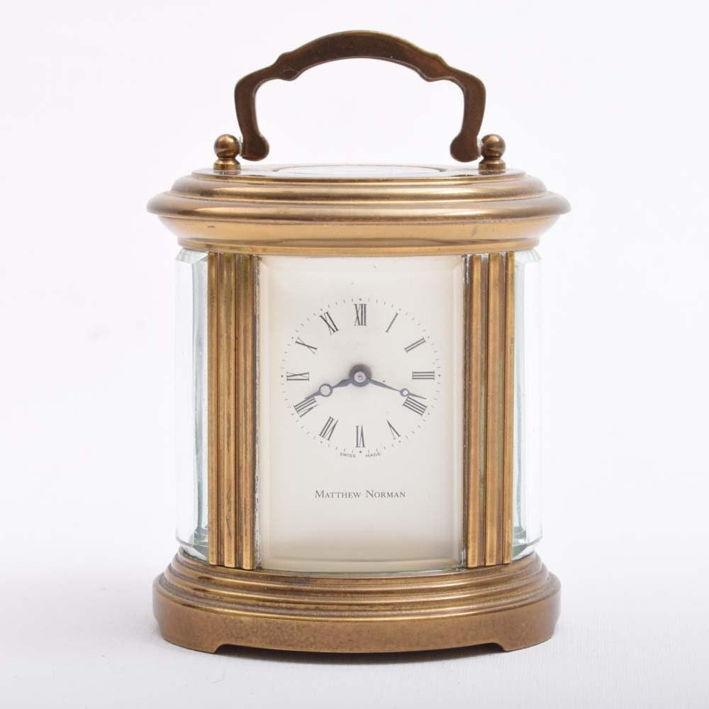 Matthew Norman Swiss Brass Carriage Clock