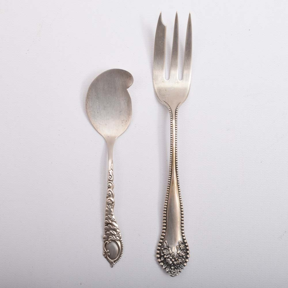 Sterling Silver Diem Spoon and Pastry Fork